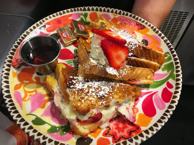 Strawberry Stuffed French Toast at Gathering Grounds Cafe in Luray VA