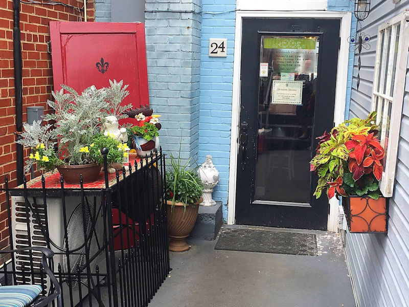 Back Entry at Gathering Grounds Cafe in Luray VA