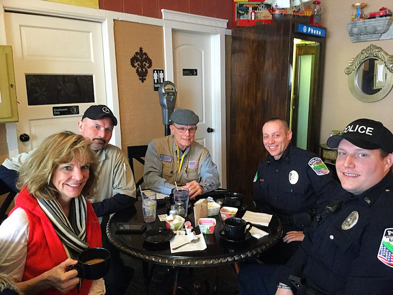 Coffee with a Cop at Gathering Grounds Cafe in Luray VA