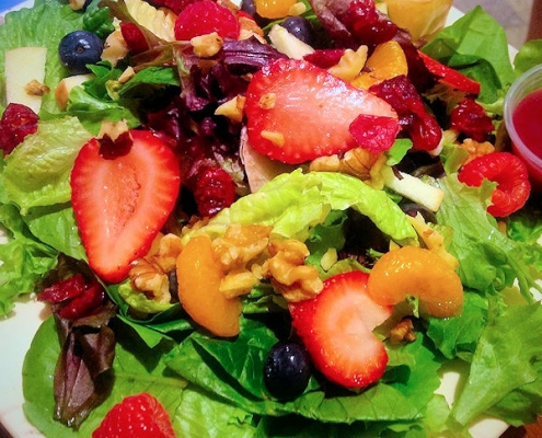 Enjoy a salad for lunch at Gathering Grounds Luray VA